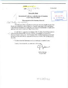 Scheduling - invitations to the Secretary-General requesting United Nations representation