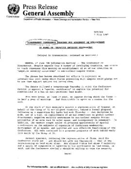 Disarmament  1997   Conference on Disarmament