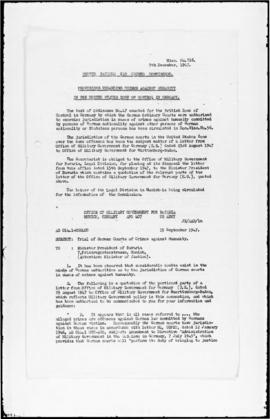 UNWCC - Notes on listings of documents and cases: (Miscellaneous 001-126)