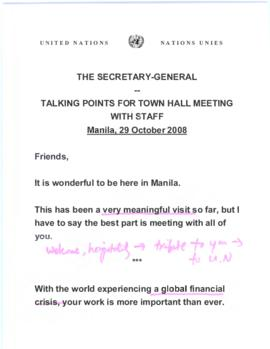 Trip to Southeast Asia, 27 October - 2 November 2008 - Manila, Republic of the Philippines, 28-30...