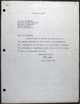 Letter signed by Albert Einstein