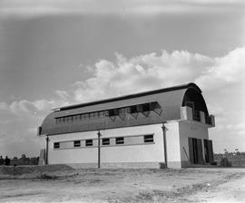 CNRRA / 750 Streamlined quonset hut structure used as warehouse at the UNRRA-sponsored machine sh...