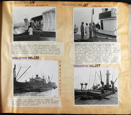Animal biologics (Neg No. 254) - Fishing fleet (Neg. No. 255 and 257) - UNRRA wheat (Neg. No. 256)