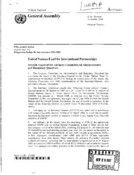 UN General - UNFIP United Nations Fund for International Partnerships 2002
