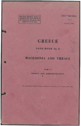 Zone Book 8, Macedonia and Thrace - Part 1 - People and Administration