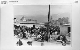 [Italy] Devastated Cassino was one of the first towns to receive food and clothing from UNRRA