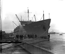CNRRA / 336 UNRRA repatriation ship SS Marine Falcon of the American President Lines, which carri...