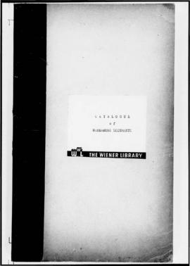 UNWCC - Catalogue of Nuremberg Documents (prepared by the Wiener Library)