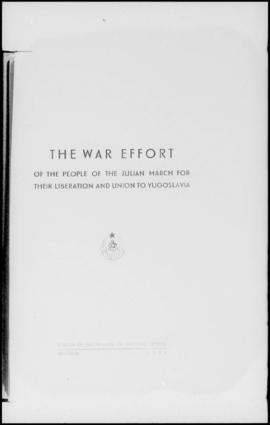 UNWCC - Publications - War Crimes Submitted by Governments - Yugoslavia - The War Effort of the J...