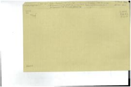 Unclassified correspondence received in Central Registry 14 Dec. 1947 from Correspondence Unit - ...