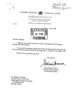 Universities, etc.  - Model UN Associations 1998