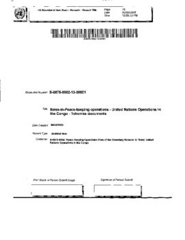 Tshombe documents