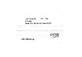 POW Cemetary Number 2 - Pusan, Korea - Index Card of Enemy Deceased - Sorted by Name - S