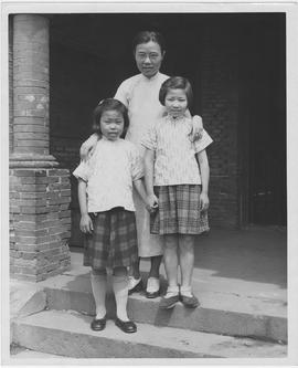 Girls of the Children's Aid Society orphanage in Nantao, a poor Shanghai suburb, are shown w...