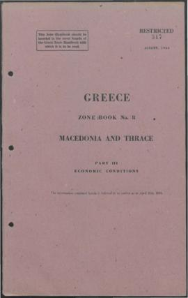 Zone Book 8, Macedonia and Thrace - Part 3 - Economic Conditions