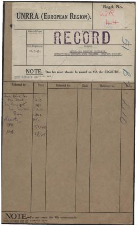 Displaced Persons Division - Operational Reports From Belgium - Flying Squads