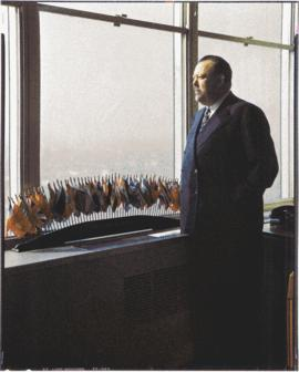 Secretary-General Trygve Lie in his office
