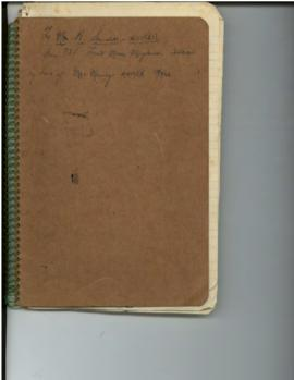 To Mr. H. Saunders - UNRRA (spiral-bound notebook)