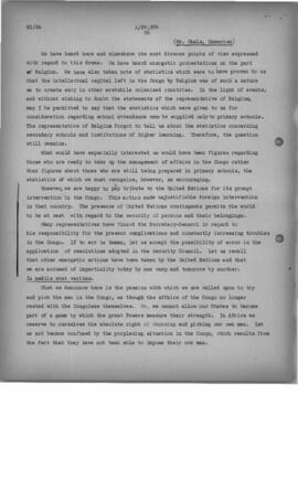 Delegation Comments on the Role of the Secretary-General and Secretariat - October 1960, A/PV 881...