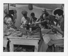 [Middle East] Cobbler's shop - El Shatt Refugee Camp, Middle East.