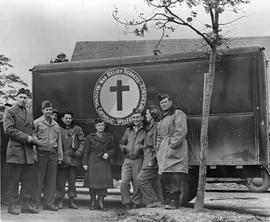 [Germany]: UNRRA / 1373 : Wolfrathausen, Germany, The national Catholic Welfare Conference truckl...