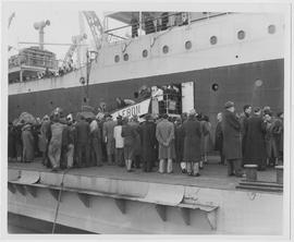 Eighteen European refugees, bound for Czechoslovakia, Poland, Austria, Holland and Italy by way o...