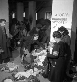 [Greece] Clothing distribution. The village of Zitsa, Epirus.