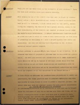 Summary of conversation with Albert Einstein on the subject of the United Nations enquiry o nInternational Research Laboratories