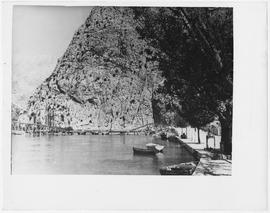 [Yugoslavia] The demands of the intense traffic and the Yugoslav desire for immediate reconstruction, resulted in the bridging of these two blasted spans at Omis, near Split
