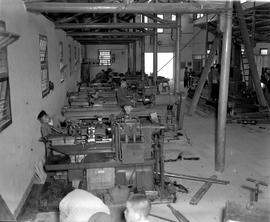CNRRA / 758 Interior of the machine shop at Minghong, near Shanghai, built to house over $1,000,0...