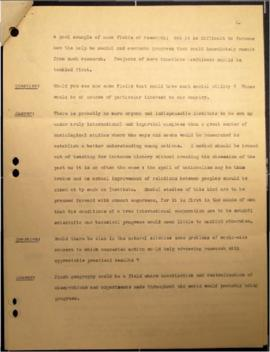 Summary of conversation with Albert Einstein on the subject of the United Nations enquiry o nInte...