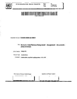 Bangladesh - Documents - press releases