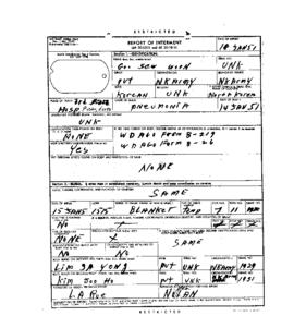 POW Cemetary Number 2 - Pusan, Korea - Internment Report - Grave 1930