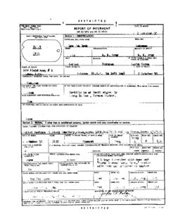 POW Cemetary Number 1 - Pusan, Korea - Internment Report - Grave 136