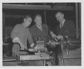 Edwin R Henson, right, head of the UNRRA agricultural rehabilitation division in Washington, and ...