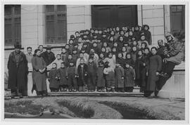 War orphans, brought by UNRRA and CNRRA from wartime refuge in Chungking to their former home, Mu...