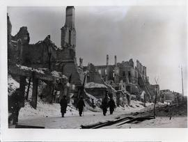 [Poland] The ruins of a city, Warsaw, Poland, January 1946.
