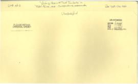 Visiting Mission to Trust Territories in West Africa, 1949 - correspondence, memoranda