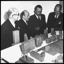 Group: Wallace Harrison, Le Corbusier, Nikolai Bassov