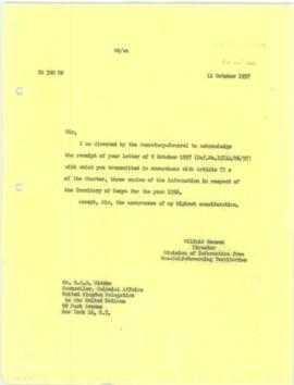 Transmission of Information under Article 73E of the Charter - United Kingdom (Parts A & B) 3...