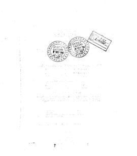 Korean Cemetary Corrospondence File 5 - Letters of Transmittal 2
