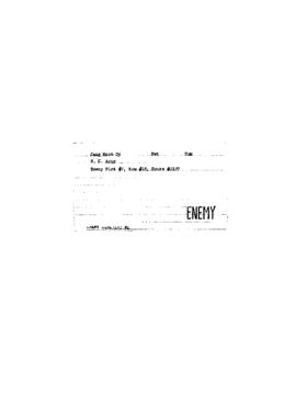 POW Cemetary Number 2 - Pusan, Korea - Index Card of Enemy Deceased - Sorted by Name - J
