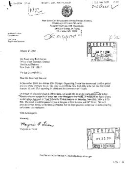 U.N. General - NYC Commission to U.N. (and all NYC-related correspondence) 2004