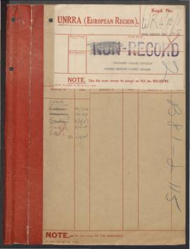 Reports - Displaced Persons Division Germany