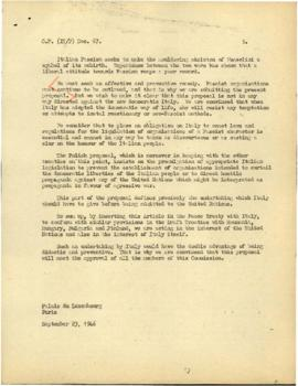 Political and Territorial Commission for Italy - Documents [Part 4 of 4]