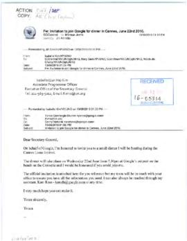 Scheduling - invitations to the Secretary-General