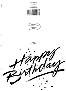 SG's Birthasday - greetings 1998