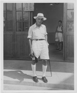 Dr Alvah Strong Miller, of Rochester, New York, UNRRA regional medical officer in Hupeh Province,...
