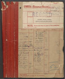 Displaced Persons Division - Reports from Greek Mission