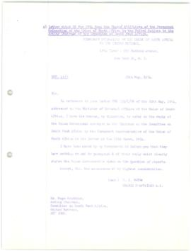 Committee on South West Africa - Papers Nos. 1-36